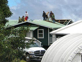 New volunteer cabin roof at Hakalau NWR | Volunteer Wildlife Refuge Hawaii